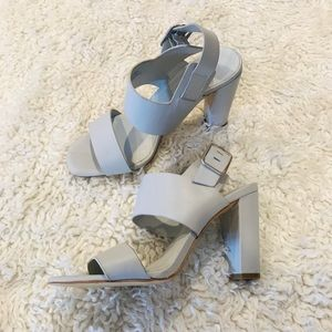 Lord & Taylor block heel grey (worn once) size 6.5